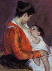louise-nursing-her-child-1898 by Mary Cassatt